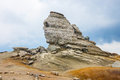 The sphinx geomorphologic rocky structures in bucegi mountains romania Stock Images