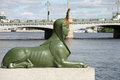 Sphinx malaya neva embankment saint petersburg russia Royalty Free Stock Images