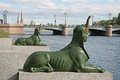 Sphinx malaya neva embankment saint petersburg russia Royalty Free Stock Photos