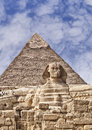 The Sphinx and pyramids of Giza Royalty Free Stock Images