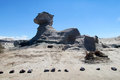 Sphinx rock formation Ischigualasto, Valle de la Luna Royalty Free Stock Photo