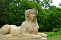 Sphinx statue in schönbusch park aschaffenburg germany Royalty Free Stock Photo