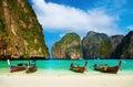 Spiaggia tropicale, baia del Maya, Tailandia Fotografie Stock Libere da Diritti