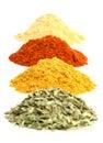Spice heaps Royalty Free Stock Photo