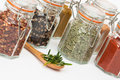 Spice Jars Royalty Free Stock Images