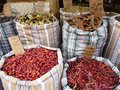Spice market amman jordan middle eastern and north african food is based on spicy flavours dried spices are sold by weight Stock Photos