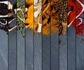 Spice Mix Stripes Royalty Free Stock Photo