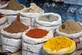 Spice Sack Display Royalty Free Stock Photos