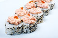 Spice sushi with sauced slices japanese Royalty Free Stock Photography