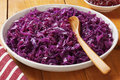 Spiced red cabbage with apple delicious christmas meats Royalty Free Stock Photos