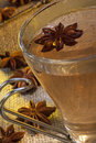 Spiced tea a hot cup of with star anise which has an aniseed flavor Royalty Free Stock Photo