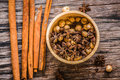 Spices , Cinnamon Stick, Thai Cardamom Royalty Free Stock Photo