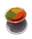 Spices crushed in capacity on a white background Stock Images