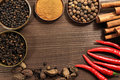 Spices frame Royalty Free Stock Images