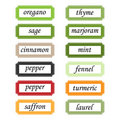 Spices labels Royalty Free Stock Photo