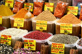 Spices at market place Royalty Free Stock Image