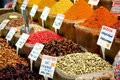 Spices in market place Royalty Free Stock Image