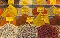Spices at a market stall Royalty Free Stock Image