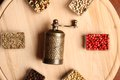 Spices and Mill Royalty Free Stock Photo