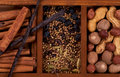 Spices and Nuts Royalty Free Stock Photography