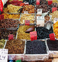 Spices, nuts and vegetables