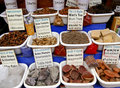 Spices and other items on the market, Morocco Stock Photography