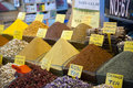 Spices for sale in the istanbul spice market Royalty Free Stock Photography