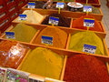 Spices shop with at egyptian market in istanbul turkey Royalty Free Stock Photo