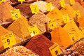 Spices on turkish market stall cose up Stock Image