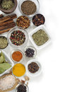 Spices with white background different and shadows Stock Photo