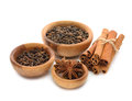 Spices in a wooden bowl Royalty Free Stock Photos