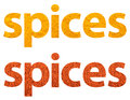 Spices Words Abstract Isolated Stock Images