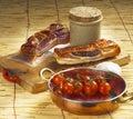 Spicy bacon Stock Photos