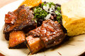 Spicy Braised Beef Ribs Stock Images