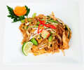 Spicy chicken noodles Stock Photography