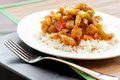 Spicy Chicken and Peanutes, Kung Pao Chicken Royalty Free Stock Photography