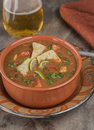 Spicy Chicken Tortilla soup Royalty Free Stock Photo