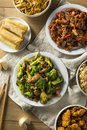 Spicy Chinese Take Out Food Royalty Free Stock Photo
