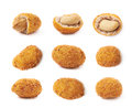 Spicy flavour crunchy nuts isolated Royalty Free Stock Photo