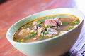 Spicy Hot and Sour Soup with Beef