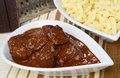 Spicy meat goulash Stock Photo