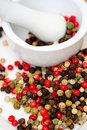 Spicy Rainbow Peppercorns Stock Photography