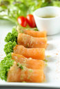 Spicy Salmon Roll Royalty Free Stock Photography