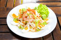 Spicy seafood Thai-style salad
