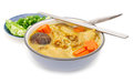 Spicy Singapore Curry Noodle Stock Photography