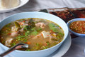 Spicy steamed pork spare ribs soup hot and Royalty Free Stock Photo