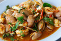 Spicy stir fried sea food Stock Photography