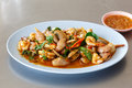 Spicy stir fried sea food Royalty Free Stock Photo