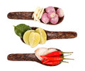 Spicy Thai food ingredients Royalty Free Stock Images