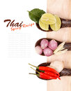 Spicy Thai food ingredients Stock Photos